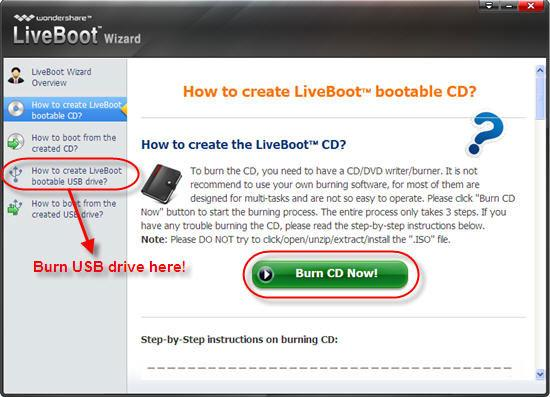 how to create a bootable usb windows xp