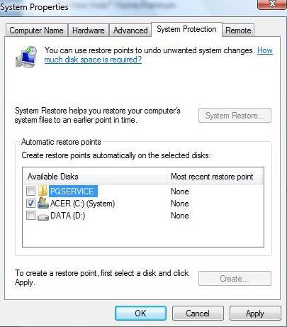 create a system restore step 2