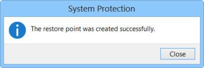 create a system restore step 5