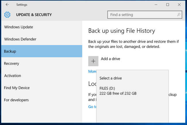 enable file history