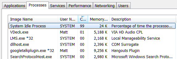 fix high CPU usage in Windows-System Idle Processes