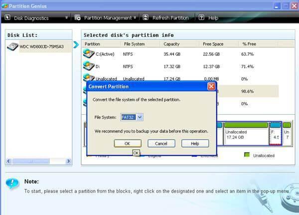 Convert NTFS to FAT
