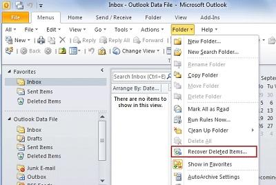 Gelöschte E-Mails in Outlook wiederherstellen