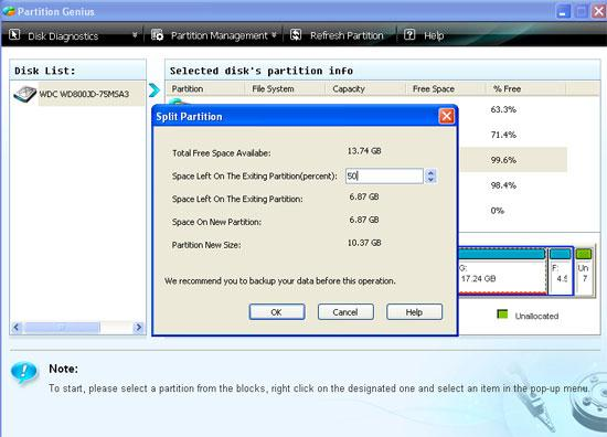 partition hard disk step 2