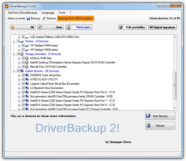 driver backup-top 5 Windows driver backup software