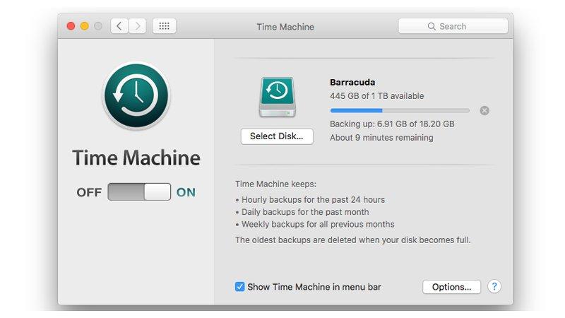 backup mac before update to mac os seirra