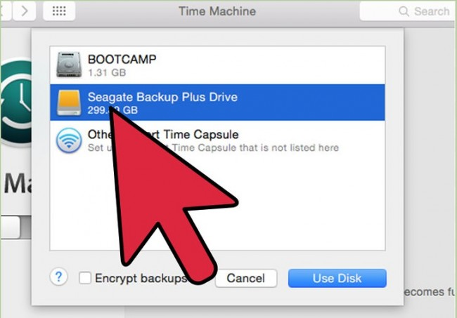 backup Data with Time Machine before users restore Mac to factory settings-5