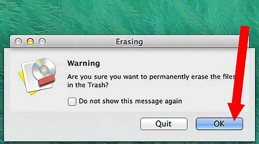 Erase your files on Mac