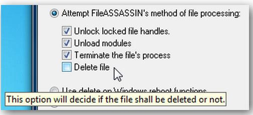 click the Delete file option