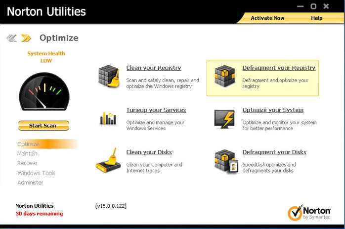 Norton Utilities to Remove Unwanted Files from Windows