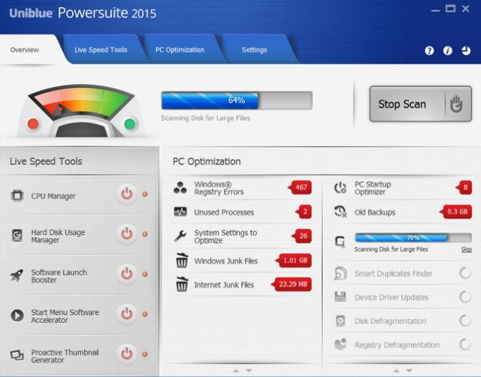 Uniblue PowerSuite para Remover Arquivos Indesejados do Windows