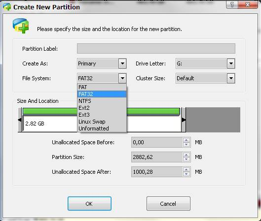 partition SD card step 4