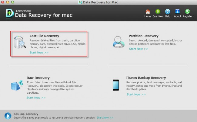 Top 5 Datenwiederherstellungssoftware für Mac OS X – Tenorshare Any Data Recovery