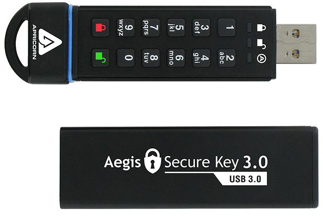 apricorn aegis secure key secure flash drive