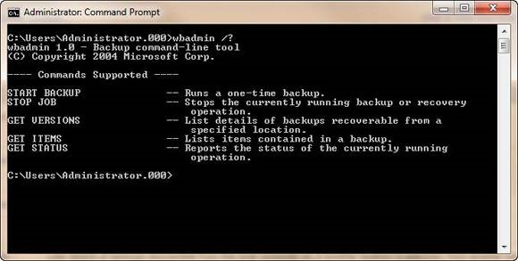 backup hard drive with command prompt