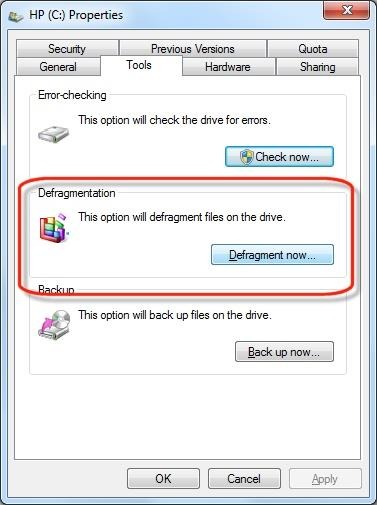 The best way to Stop your Computer from Slowing Down-defragment disk in Windows step 3