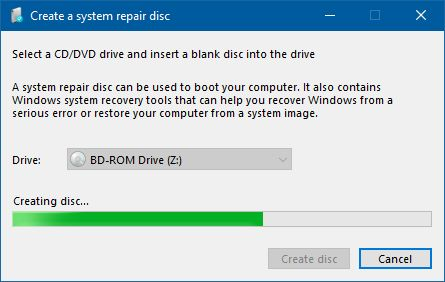 system repair windows 7 without disc