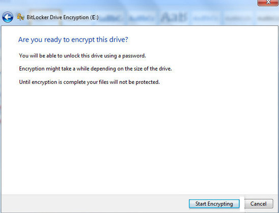 encrypt usb drive by bitlocker