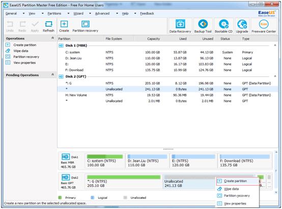 partition GPT hard drive step 5
