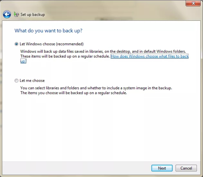 How to Backup Windows 7 with built-in backup tool-step 5