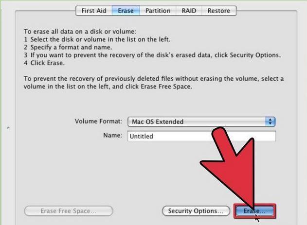 erase hard drive data from mac step 2