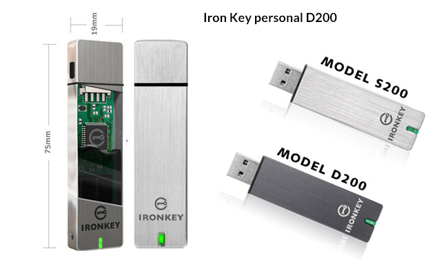 iron key personal d200 secure flash drive