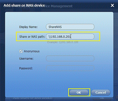 backup files to NAS