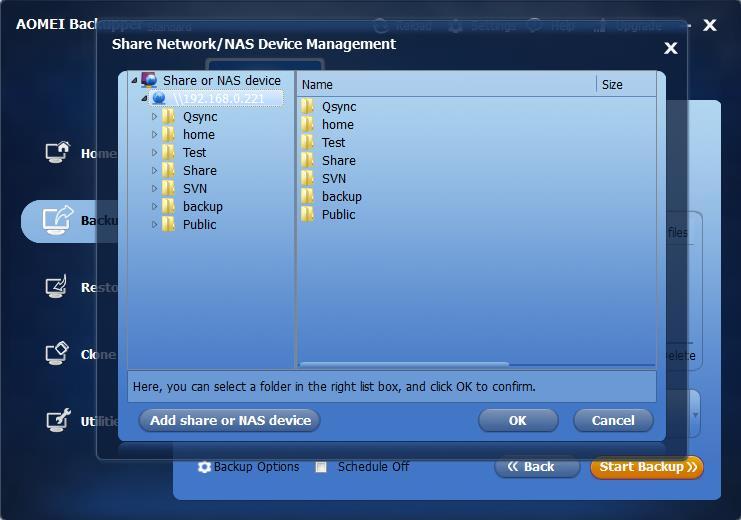 backup files to NAS