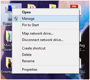 my computer manage