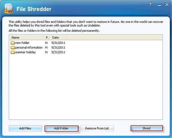 Folder Shredder