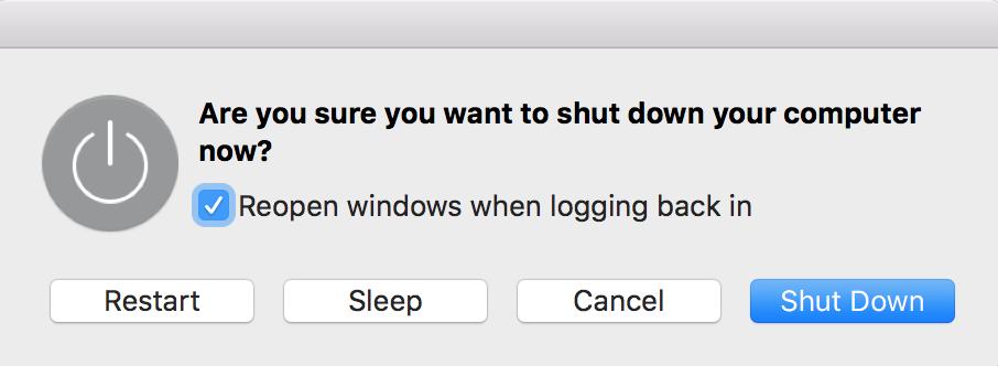 shut down a frozen Mac