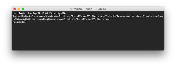 Como criar um disco inicializável para MacOS