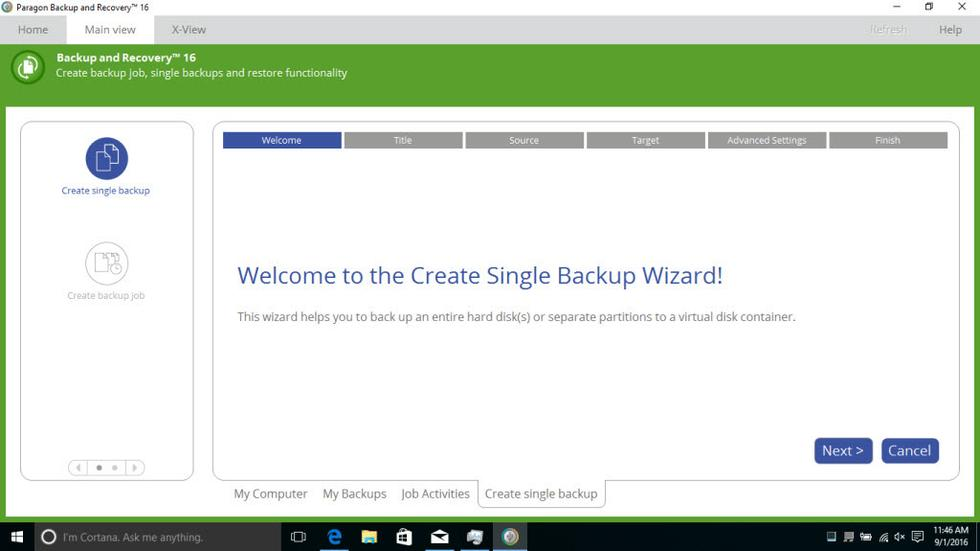 Windows backup software in 2018-Paragon Backup & Recovery 16