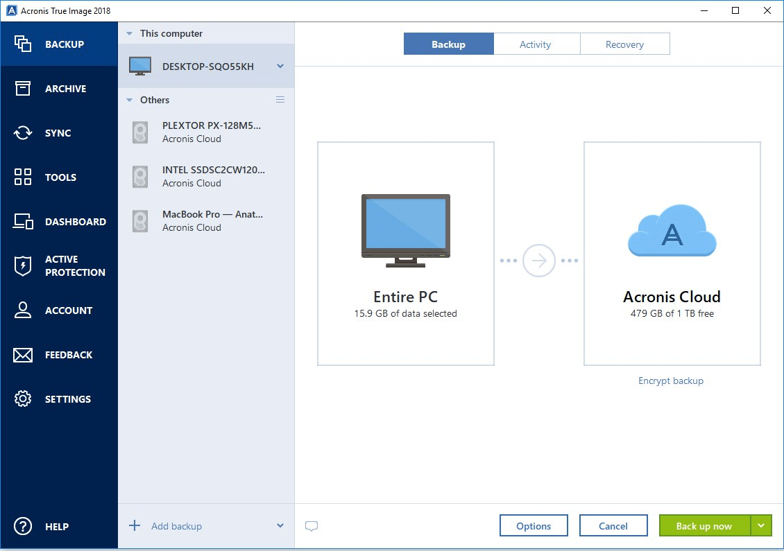 Windows backup software in 2018-Acronis True Image