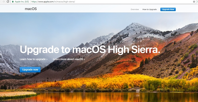 actualiza tu mac a high sierra