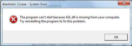 Fix Blackra1n Asl.dll Error