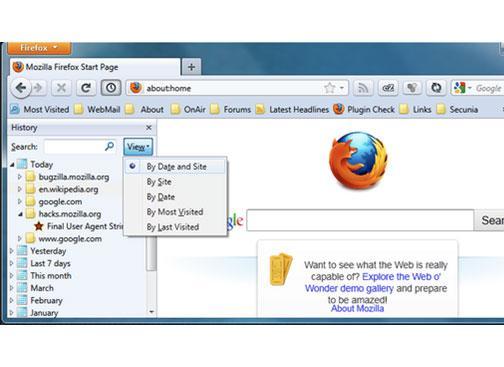 delete Firefox history