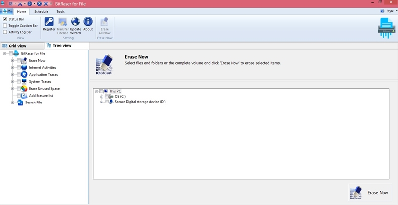 erase hard disk drive