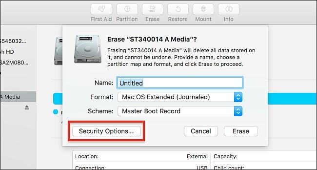 erase hard drive on windows