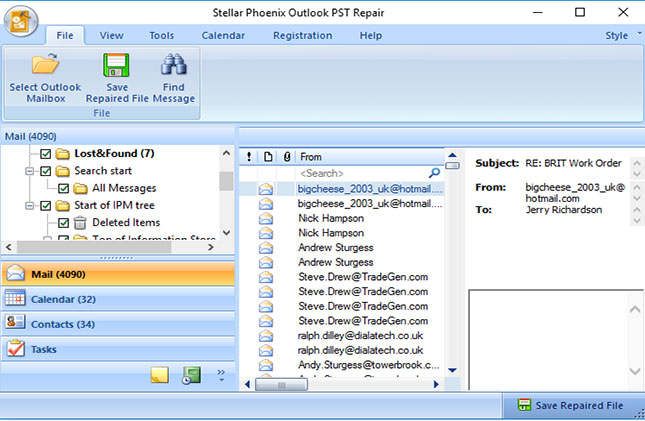repair outlook pst files step 3