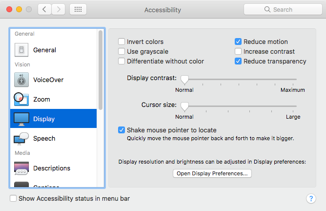 How to fix Slow Mac Performance with 10 easy ways-Reduce Transparency