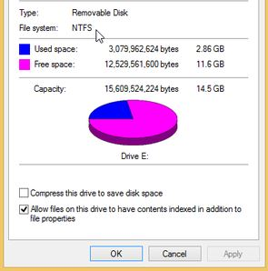 flash drive partition