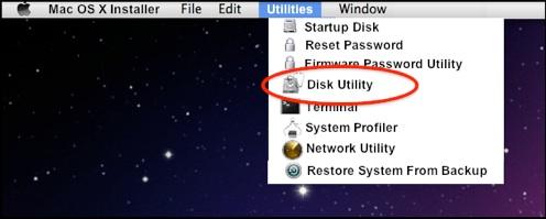 formater une partition sous Mac OS X - étape 1