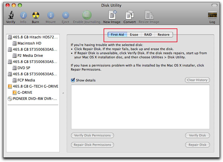 format partition on Mac OS X