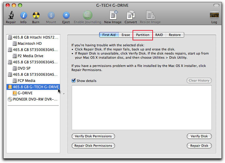 format partition on Mac OS X step 2