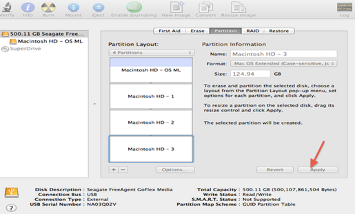 how to create partition