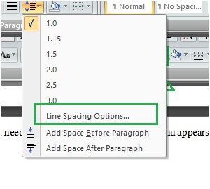 indents and spacing