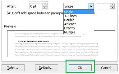 save line spacing change in microsoft word