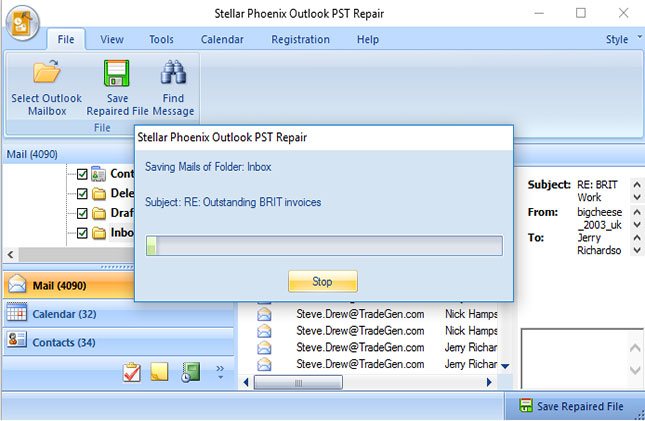 recover deleted contacts from PST files step 4