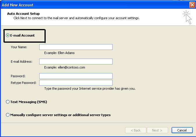 create new outlook pst file step 6